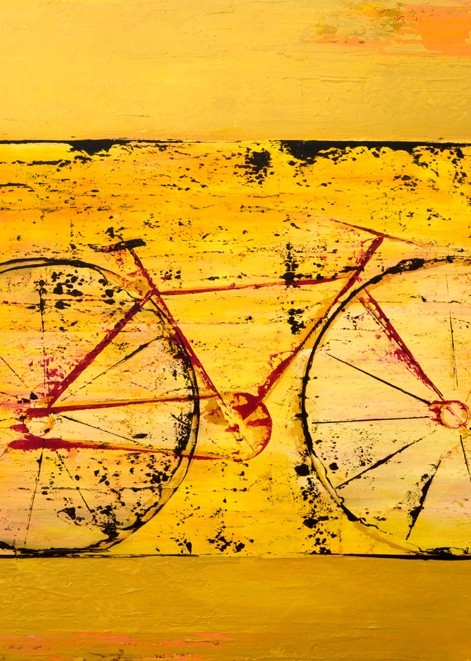 Golden Bike  Art | benbonart