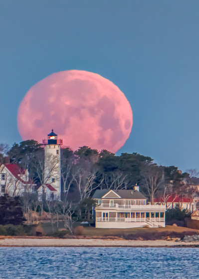 West Chop Light Snow Moon Art | Michael Blanchard Inspirational Photography - Crossroads Gallery