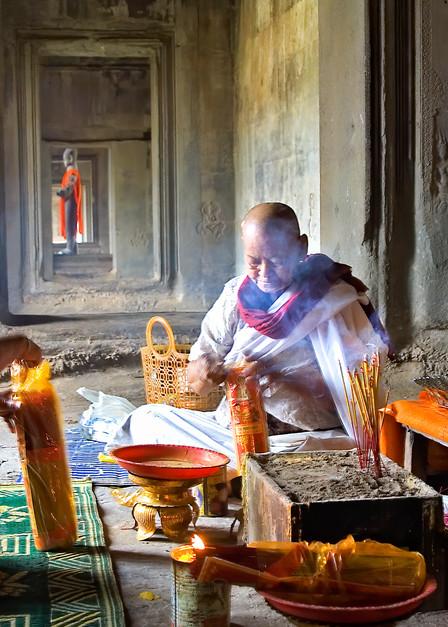 Angkor Monk Ceremony 132 Photography Art | Felice Willat Photography