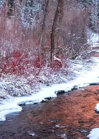 weber river winter panorama
