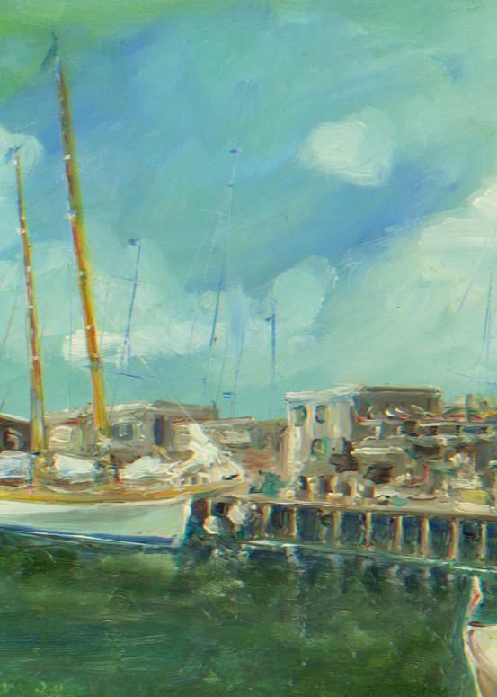 Bannister's Wharf Print