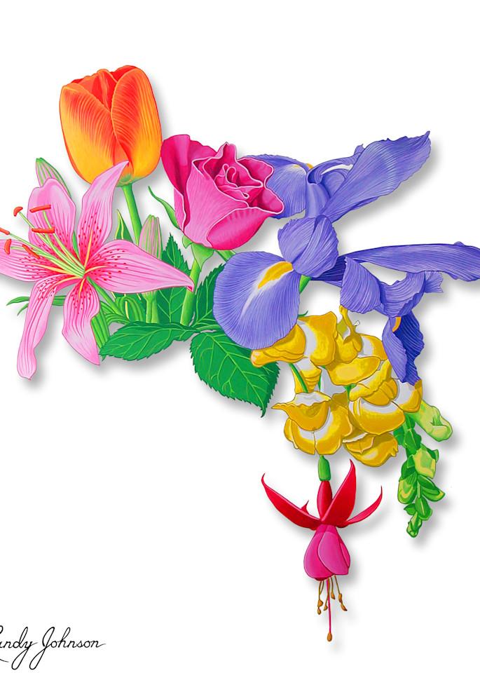 Cascade Of Flowers Art | Randy Johnson Art and Photography