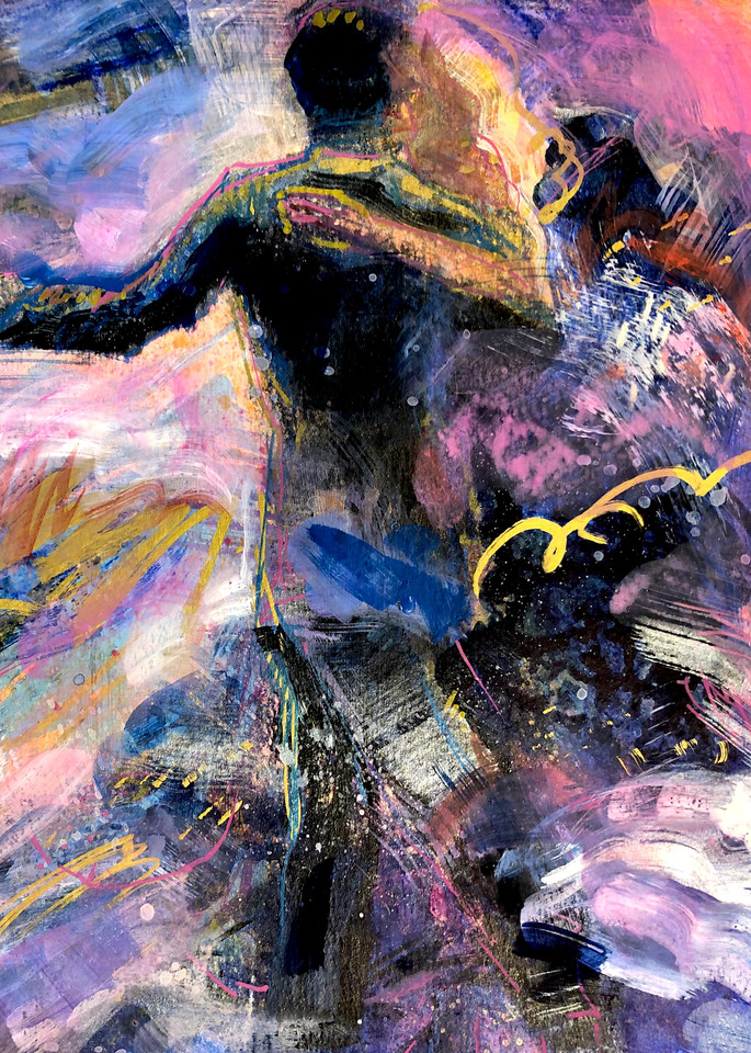 "High quality art print of prophetic art by Monique Sarkessian ""Heaven Dancers 1""."