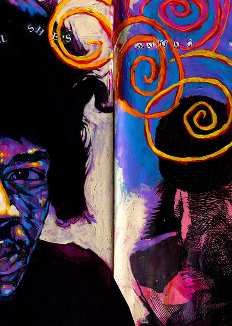 Jimi Hendrix: Little Wing Art | Omaha Perez Art