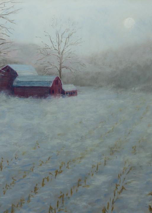 Late Snowy Blow Art   Mark Grasso Fine Art