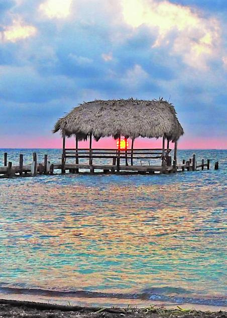 Peekaboo Sunrise Belize