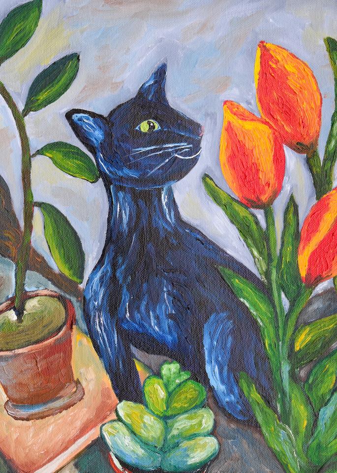 Tamzin And Tulips Art   Drivdahl Creations