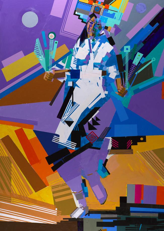 Tablet Dancer Contemporary I Art | robertorduno
