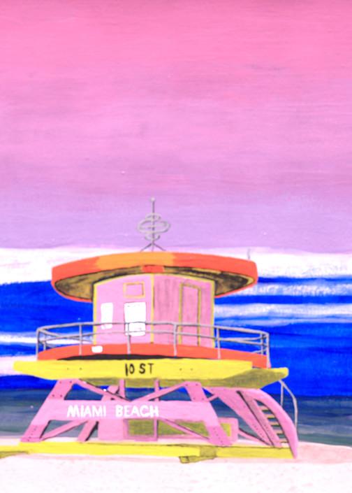Miami 10th St Tower At Sunrise Photography Art | ArtbyAEllis
