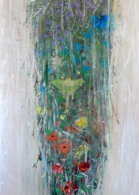 Hanging Floral Arrangement Painting