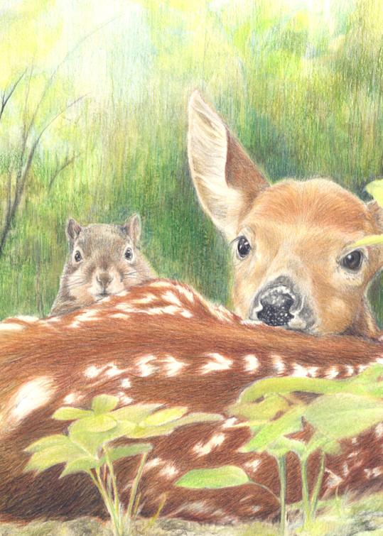 Forest Friends Art | Lori Vogel Studio