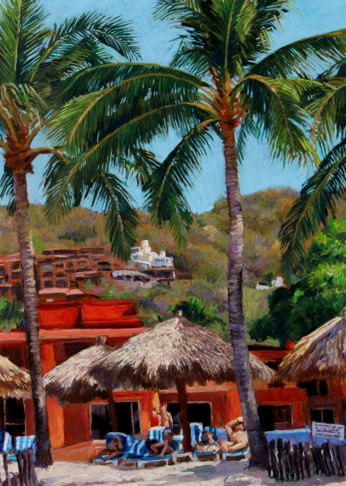 Villa Mexicana, Zihuatanejo, Mexico Art   Waif Mullins Art