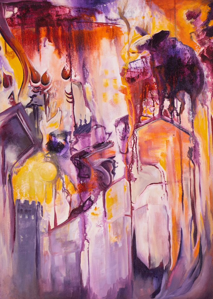 Comical Chaos   #51 Of 100   The Journey Of 100 Paintings Series Art   Valerieann Giovanni - Fine Art