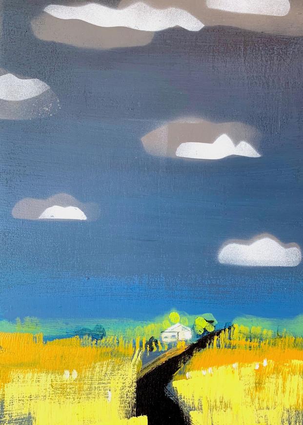 Cloud Cabin  Art | L BaLoMbiNi / red paint studio