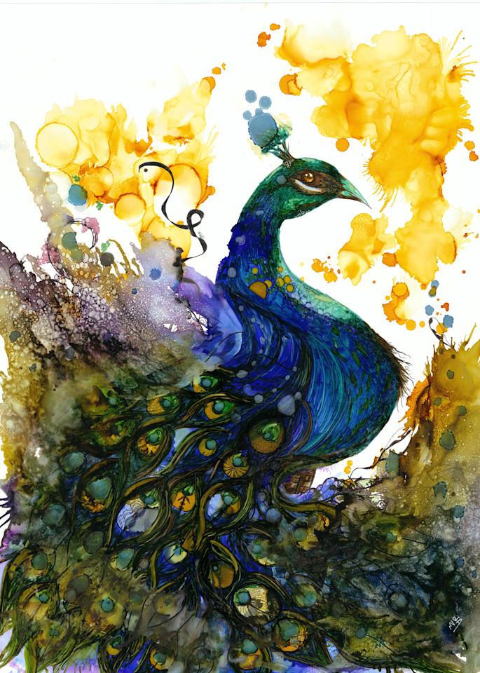 Peacock 2 Hd Art | Art With Judy Ann