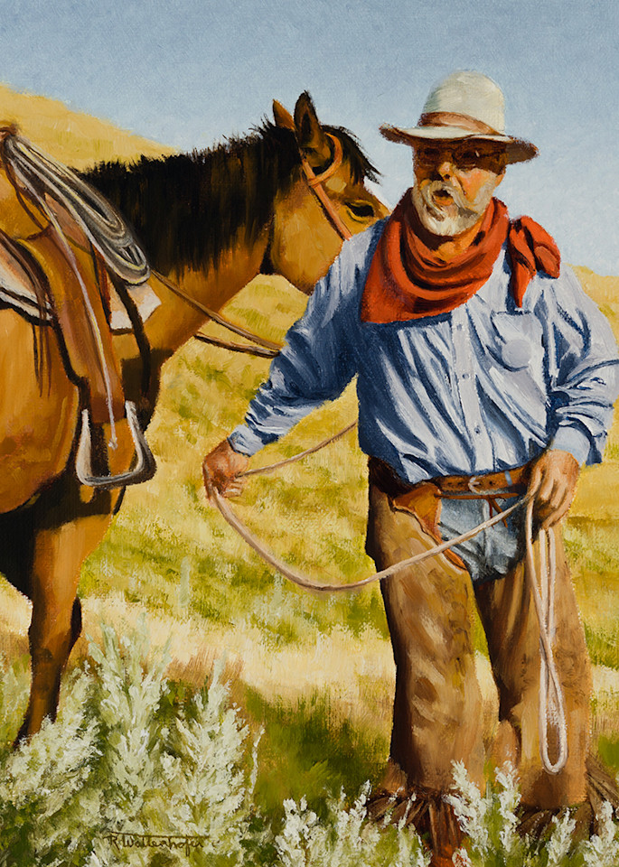 "Raymond Wattenhofer Digital Art Print ""Giving Orders""."
