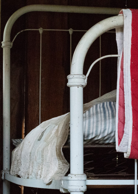 Pioneer Log Cabin:  Bed With Straw Mattress Photography Art | Great Wildlife Photos, LLC