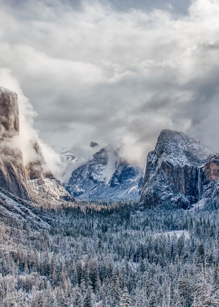 Yosemite Tunnel View After The Snow Art | Michael Blanchard Inspirational Photography - Crossroads Gallery