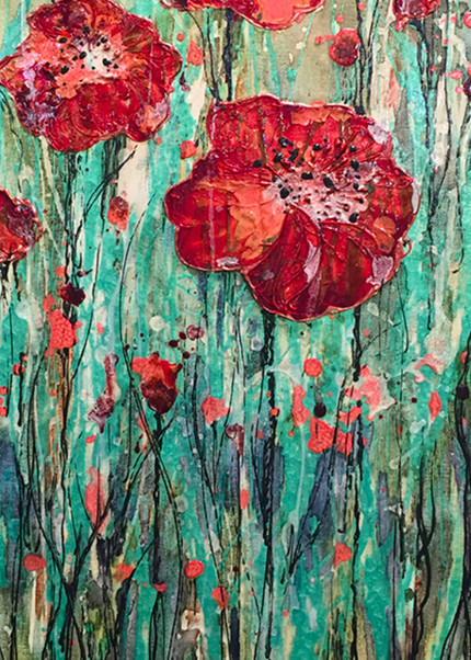 Poppy Flower Vertical Red Pop