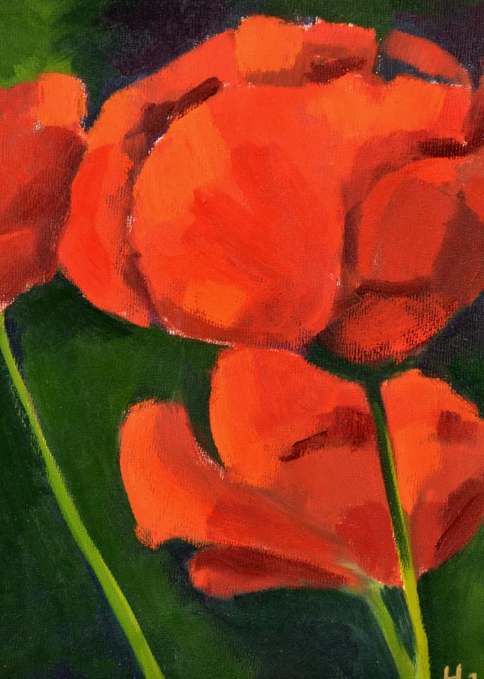 Poppy Print Art | Jenn Hallgren Artist