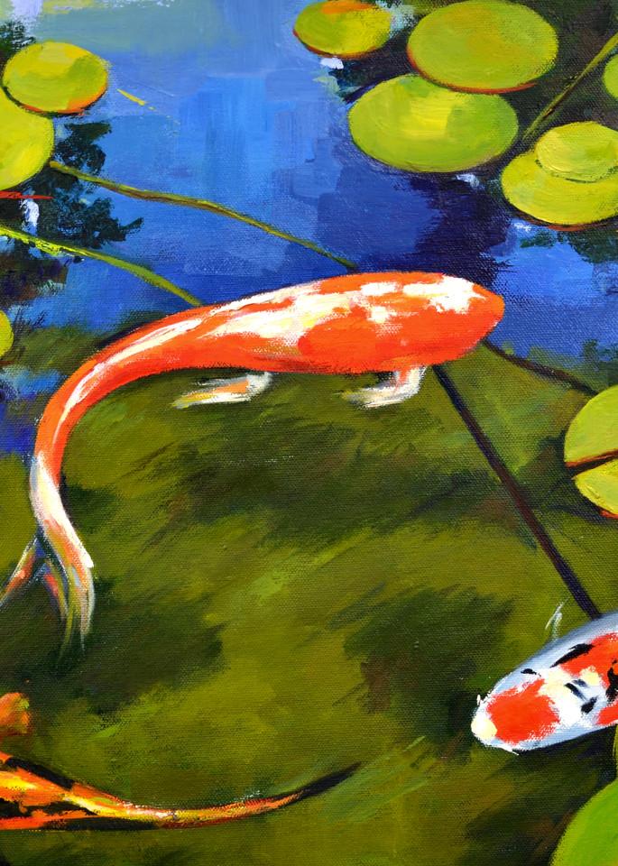 Three Koi Print Art | Jenn Hallgren Artist
