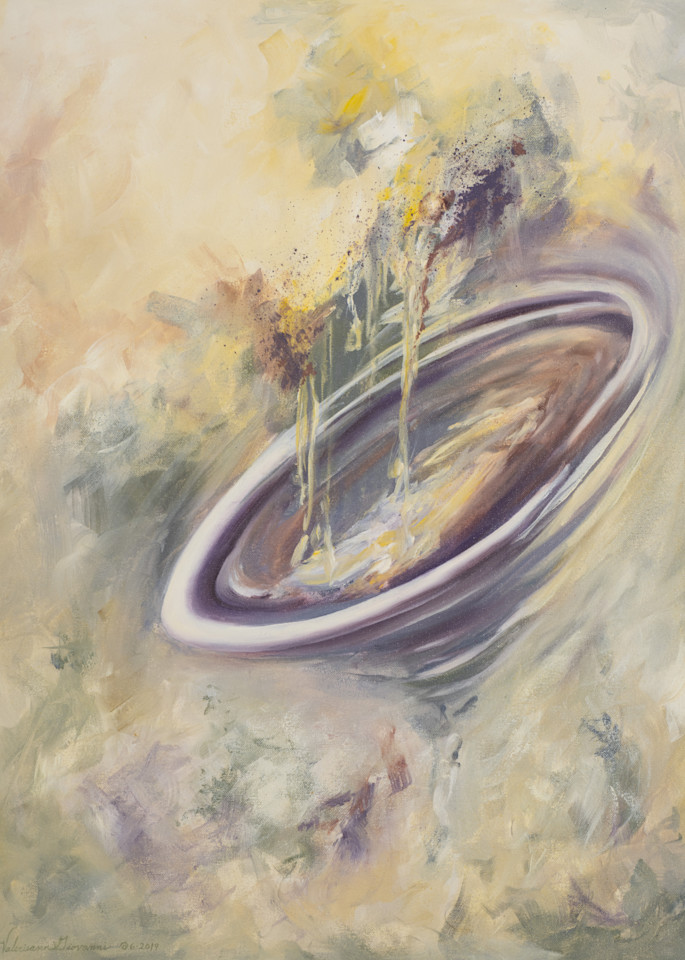 Into The Vortex   #33 Of 100   The Journey Of 100 Paintings Series Art   Valerieann Giovanni - Fine Art