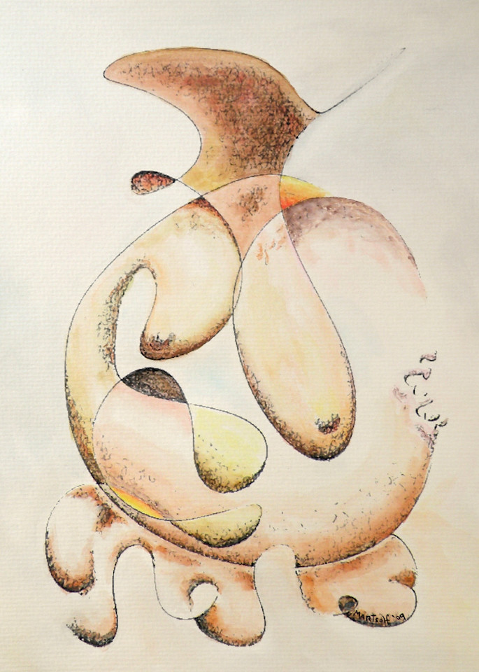 Irregular Feminine Vase - Prints
