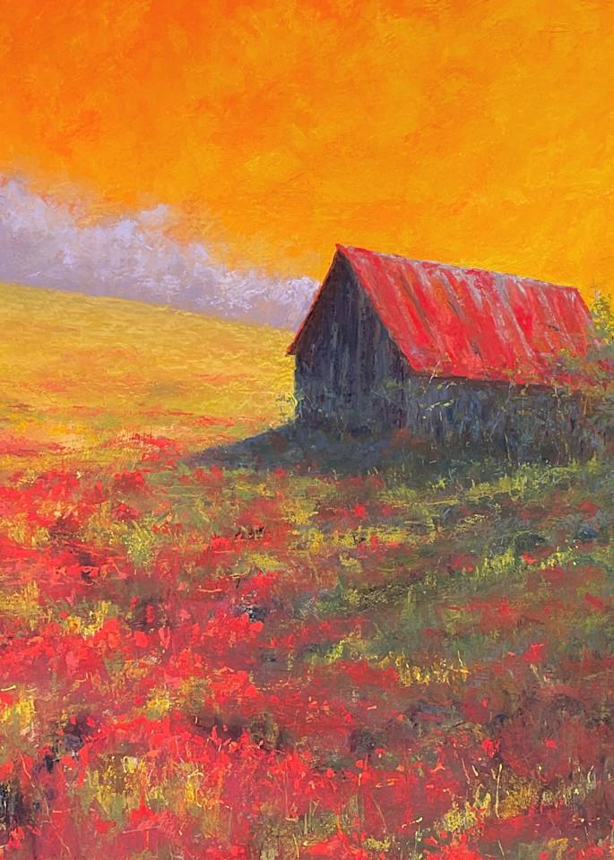 Barn Poppies Art   Kurt A. Weiser Fine Art