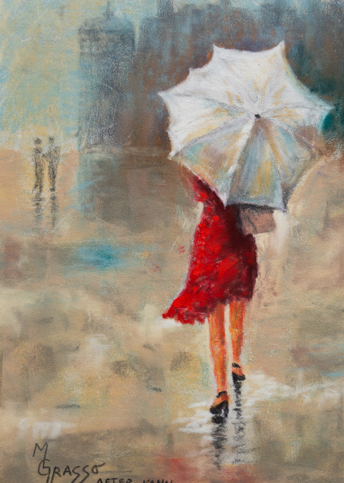 Lady In The Red Dress Art | Mark Grasso Fine Art