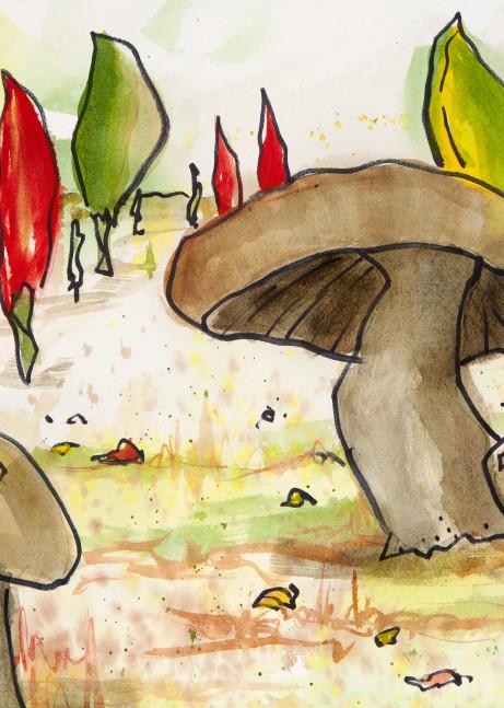 Mushrooms And Peppers Art | Elaine Schaefer Hudson Art