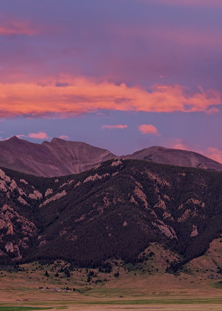 Evening Fan And Foothills Photography Art | Monty Orr Photography