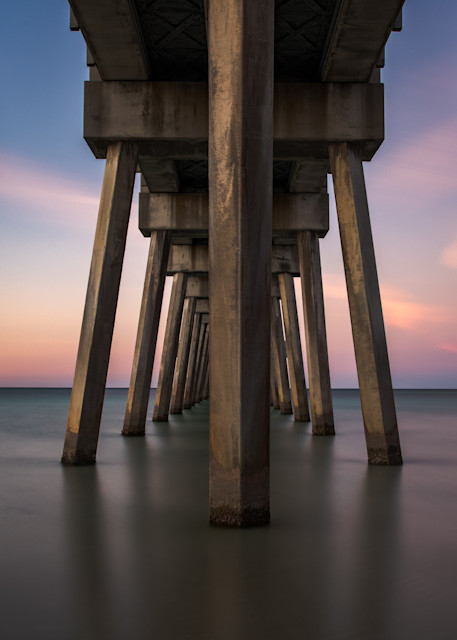 Pier Symmetry  Photography Art | Silver Sun Photography