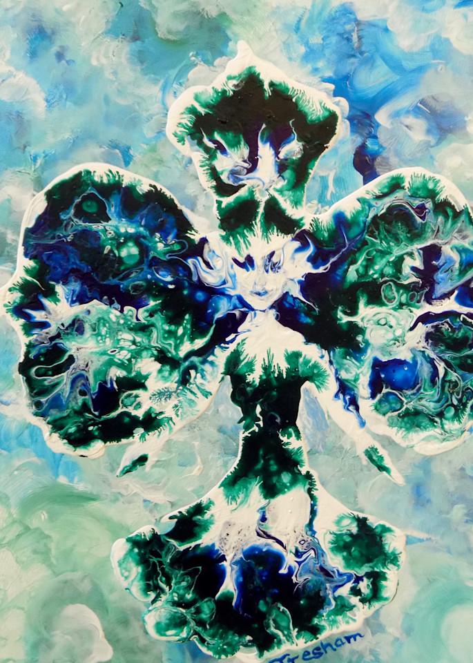 Green Orchid Fairy Art | treshamgregg - spiritart