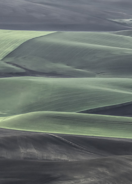 Waves Of Green In A Sea Of Black Photography Art | Monty Orr Photography