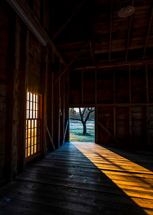 Far Barn Light Path Art | Michael Blanchard Inspirational Photography - Crossroads Gallery