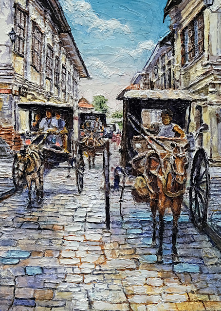 Three Carriges  by Philippine Artist Joey Agbayani