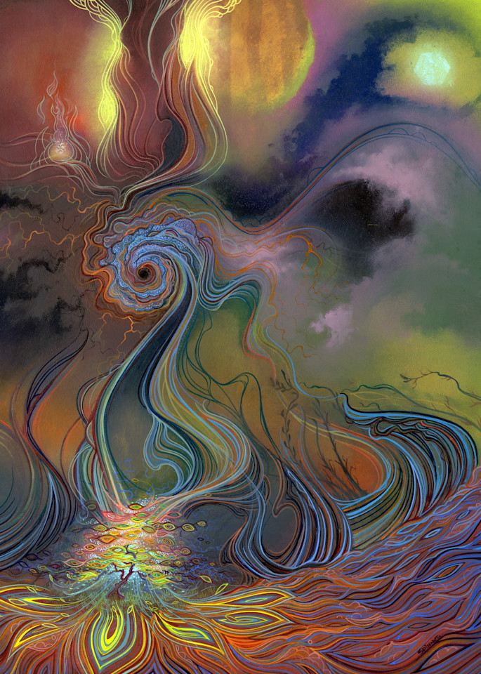 Perihelion original painting by Spencer Reynolds