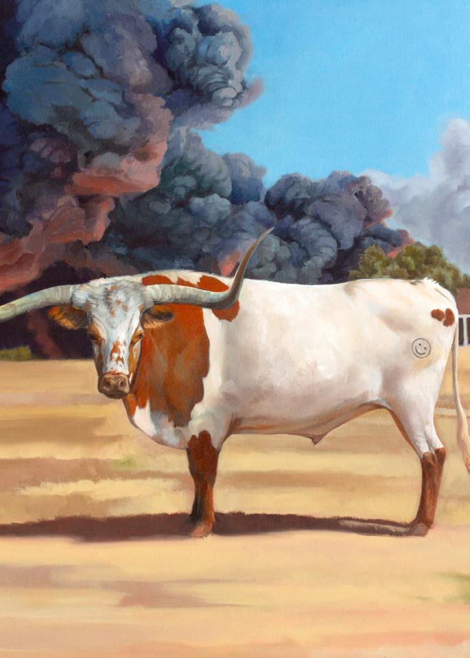 Smiley Bull Art   Kym Day Studio