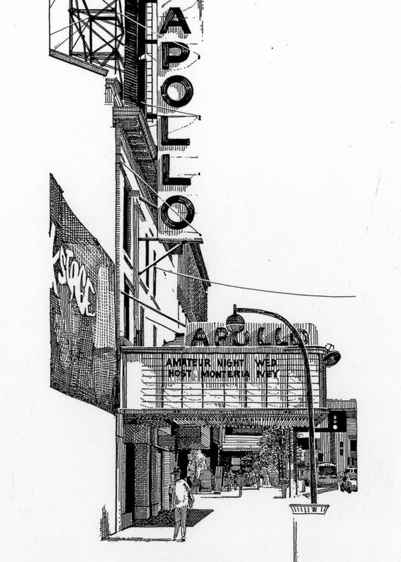 The Apollo, Nyc Art | Andre Junget Illustration LLC