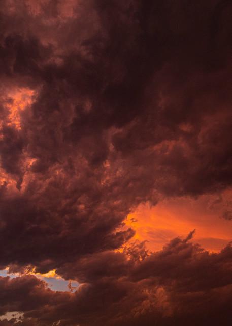 Texas, Sunset, Strom clouds, orange