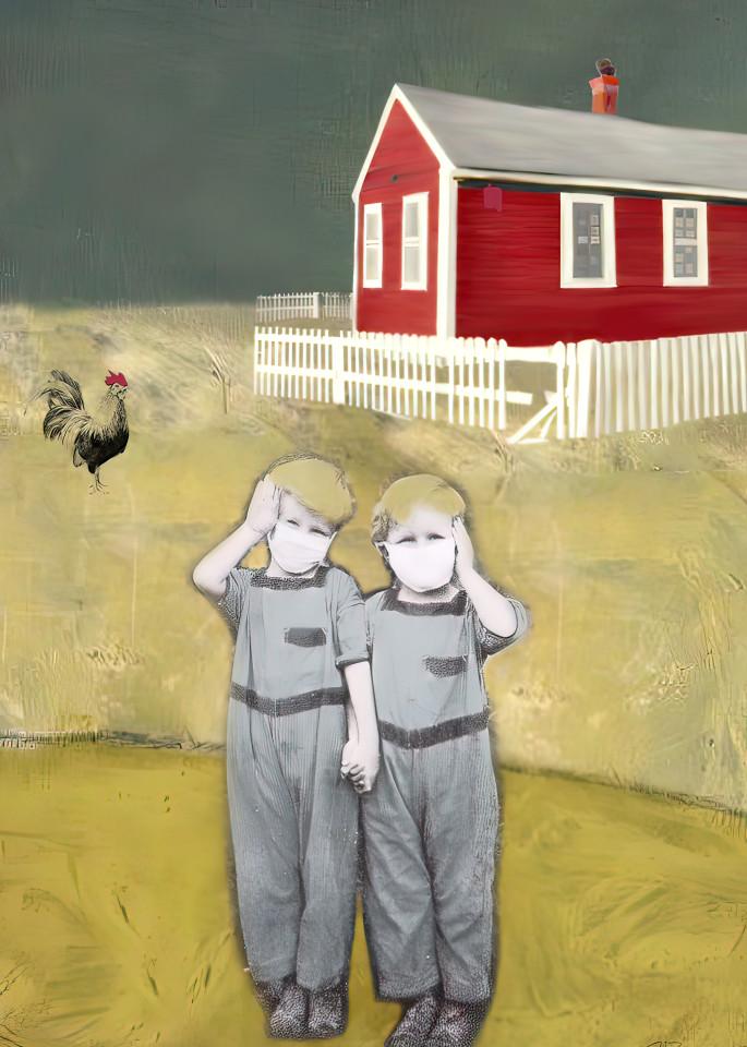 The Schoolhouse, Print, 2021, by artist Carolyn A. Beegan