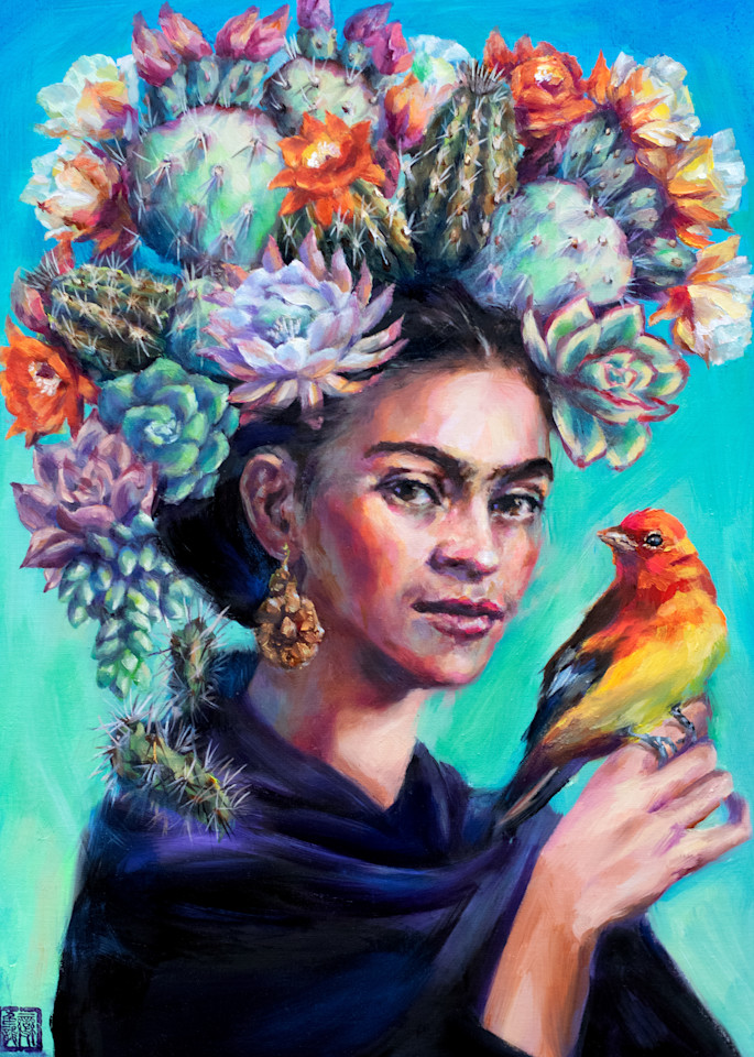 Cactus Queen: Frida 2 Art | Ans Taylor Art