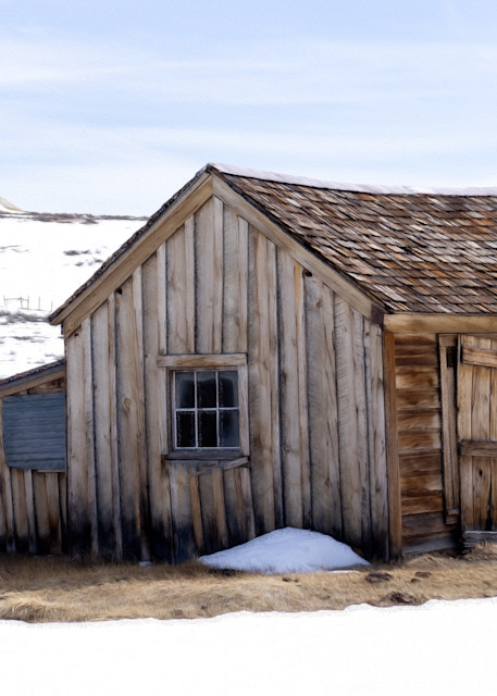 This Old House - digital oil painting of an old house in California  photograph print