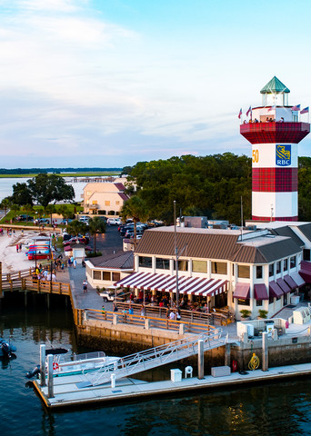 Harbour Town Marina and Lighthouse at Sunset