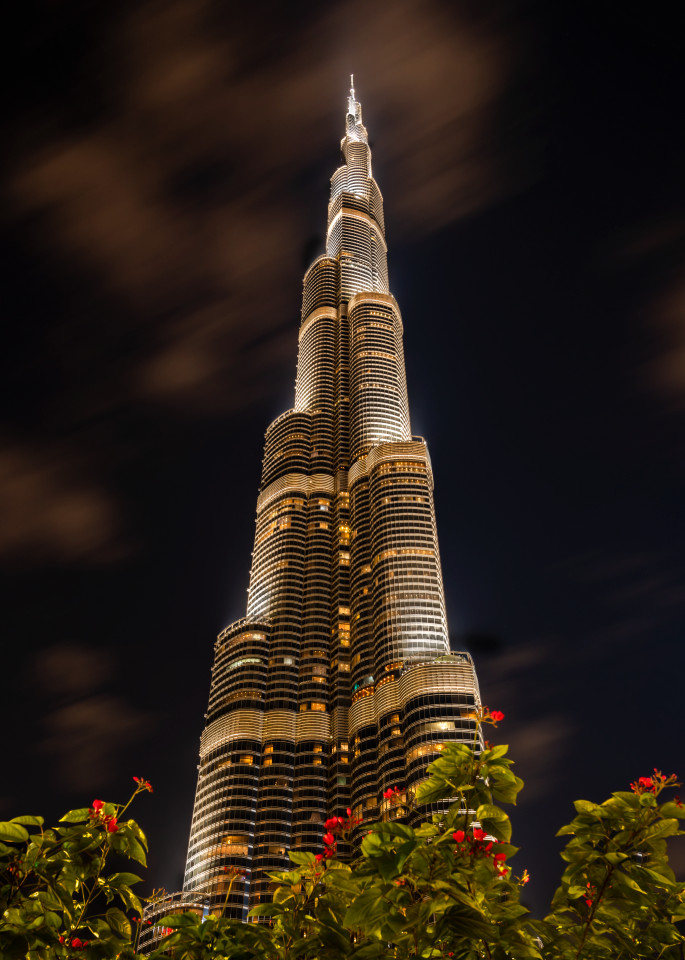 Night At The Burj Khalifa Photography Art | Rick Vyrostko Photography