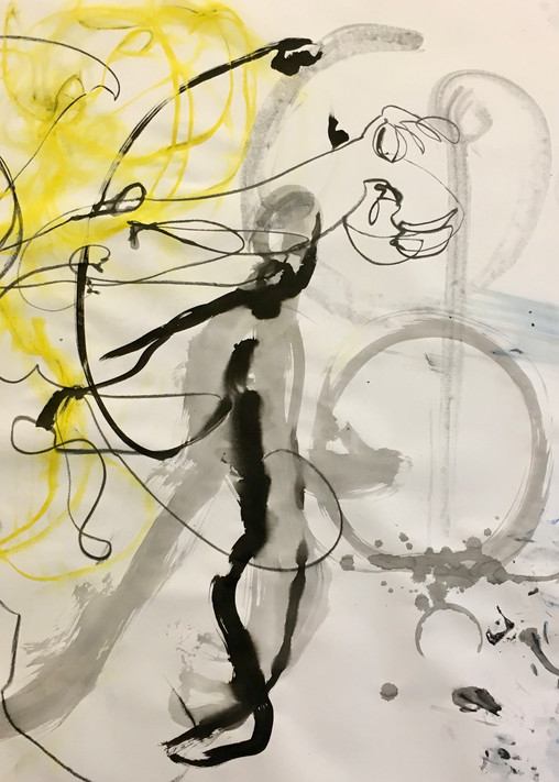 Untitled (Detail In Yellow & Blue, Bauhaus Collaboration), 2019 Art   larahanson
