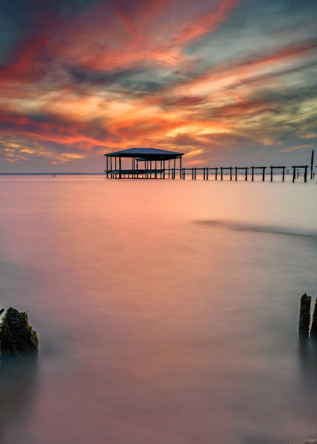 Afterglow on Mobile Bay   Shop Photography by Rick Berk