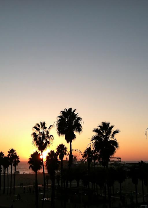 Santa Monica Sunset Photography Art | Kathleen Messmer Photography