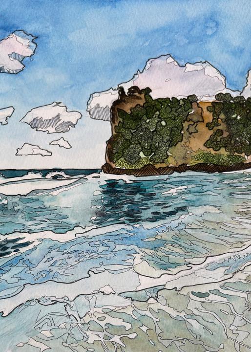 Beachscape Art   Water+Ink Studios