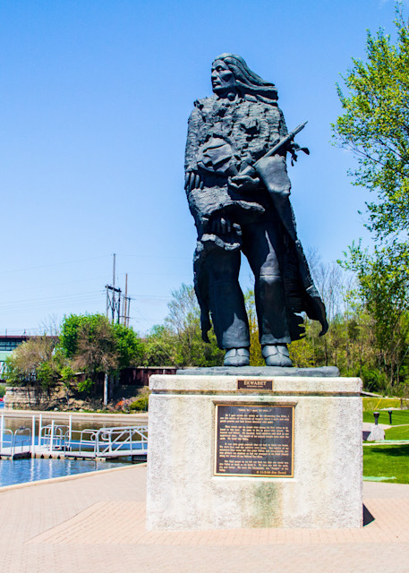 Potawatomi Indian Statue Photography Art | Lake LIfe Images
